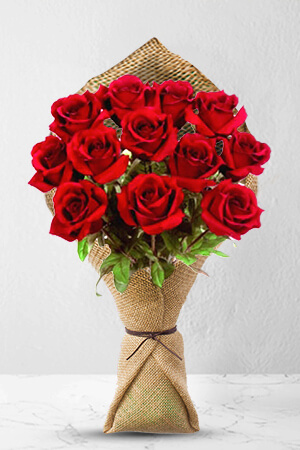 Toussaint from United States sent 12 Long Stem Premium Rose Bouquet to MaryJoy in Philippines