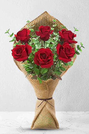 Christopher from New Zealand sent 6 Long Stem Premium Rose Bouquet to Anthea in New Zealand