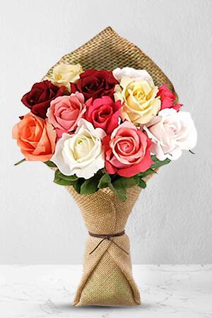 John Mark from United States sent One Dozen Assorted Roses to Margret in Australia